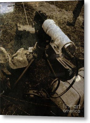 Water Cooled 30 Caliber Browning   Metal Print by Steven  Digman