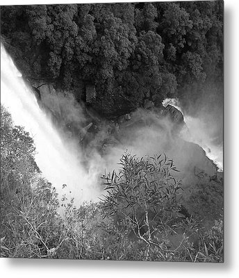 Water Fall And Bushland Metal Print by Cheryl Miller