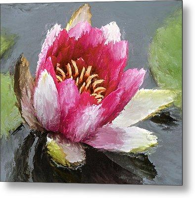 Water Flower Impression Metal Print by Yury Malkov