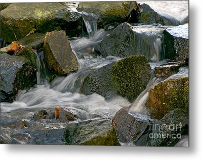 Water Over Rocks Metal Print by Sharon Talson