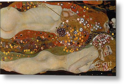 Water Serpents II Metal Print by Gustav Klimt