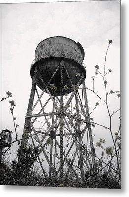 Water Tower Metal Print by Michael Grubb