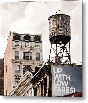 Water Towers 14 - New York City Metal Print by Gary Heller