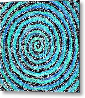 Water Vortex Metal Print by Carla Sa Fernandes