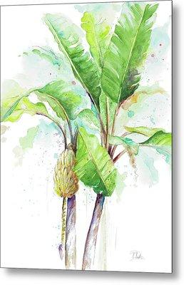 Watercolor Banana Plantain Metal Print by Patricia Pinto