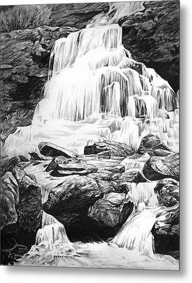 Waterfall Metal Print by Aaron Spong