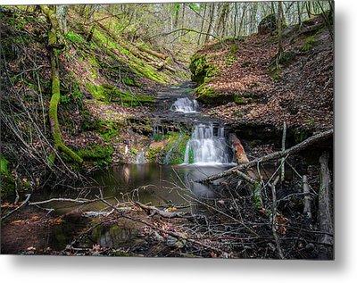 Waterfall At Parfrey's Glen Metal Print by Jonah  Anderson