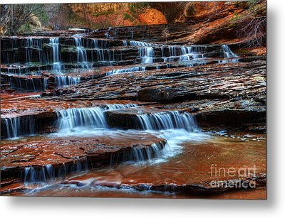 Waterfall Cascade North Creek Metal Print by Bob Christopher