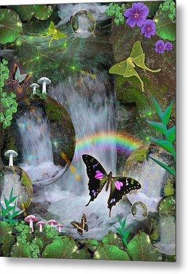 Waterfall Daydream Metal Print by Alixandra Mullins