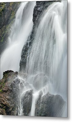 Waterfall In Spring Metal Print by Guido Montanes Castillo