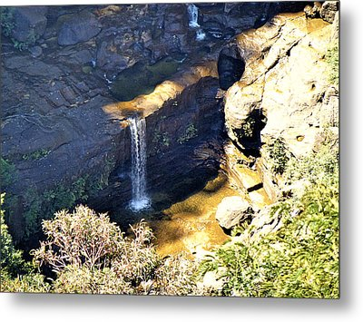 Waterfalls Metal Print by Girish J