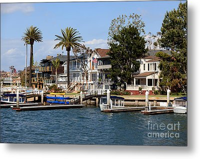 Waterfront Luxury Homes In Orange County California Metal Print by Paul Velgos