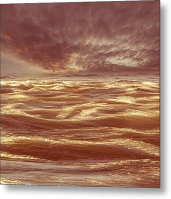 Waterscape Number Seven Metal Print by Bob Orsillo