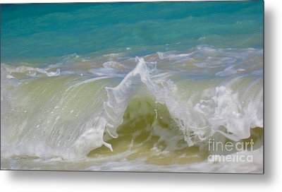 Wave 3 Metal Print by Cheryl Young