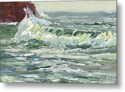 Wave Action Metal Print by Patricia Seitz