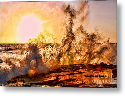 Wave Crasher La Jolla By Diana Sainz Metal Print by Diana Sainz