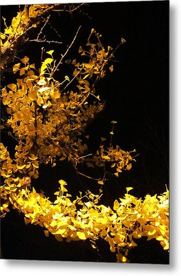Wave Of Yellow Metal Print by Guy Ricketts