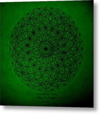 Wave Particle Duality II Metal Print by Jason Padgett