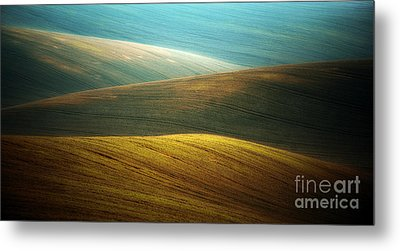 Waves Of Colours Metal Print by Jaroslaw Blaminsky