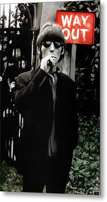 Way Out  George Harrison Metal Print by Iconic Images Art Gallery David Pucciarelli