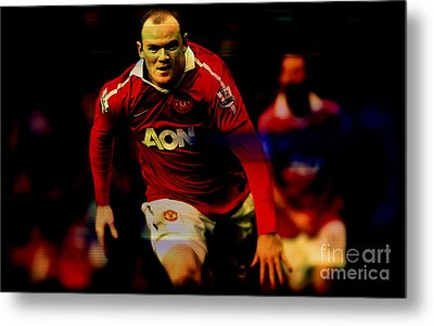 Wayne Rooney Metal Print by Marvin Blaine
