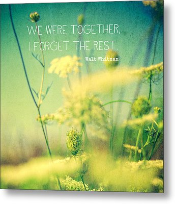 We Were Together Metal Print by Joy StClaire