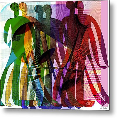 We Will March Together Metal Print by Iris Gelbart