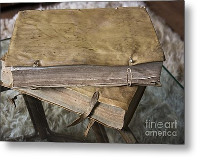 Weathered Tomes Of Old Metal Print by Al Bourassa