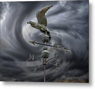 Weathervane Metal Print by Steven  Michael
