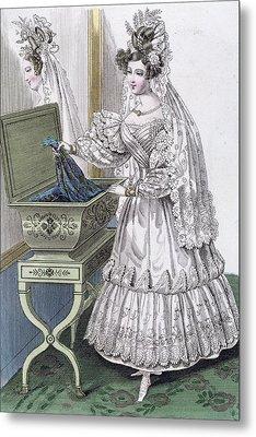 Wedding Dress Metal Print by French School