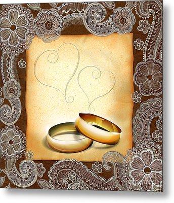 Wedding Memories V1a Classic Metal Print by Bedros Awak