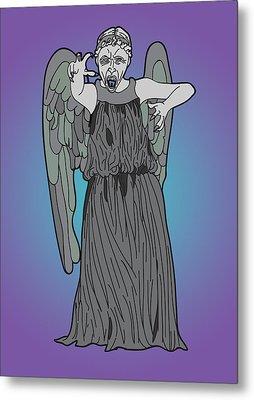 Weeping Angel Metal Print by Jera Sky