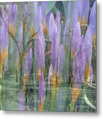 Weeping Flowers Metal Print by PainterArtist FIN