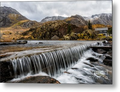 Weir At Ogwen Metal Print by Adrian Evans