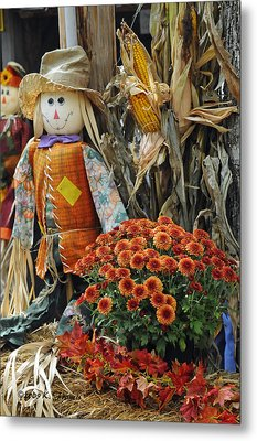 Welcome Fall Metal Print by Kenny Francis