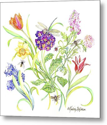Welcome Spring I Metal Print by Kimberly McSparran