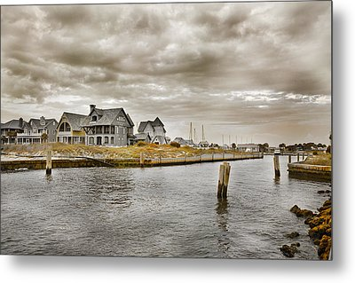 Welcome To Bald Head Island Metal Print by Betsy Knapp