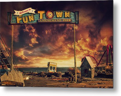 Welcome To Fun Town Metal Print by Kim Zier