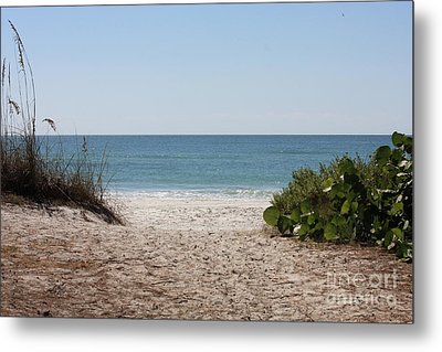 Welcome To The Beach Metal Print by Carol Groenen