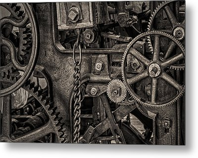 Welcome To The Machine Metal Print by Erik Brede