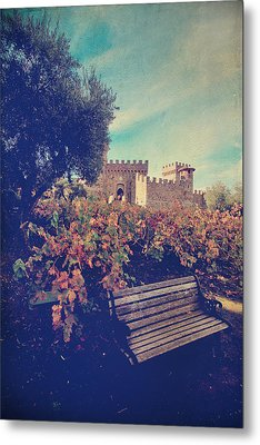 We'll Meet Among The Vines Metal Print by Laurie Search