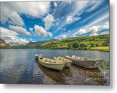 Welsh Boats Metal Print by Adrian Evans