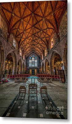 Welsh Cathedral  Metal Print by Adrian Evans