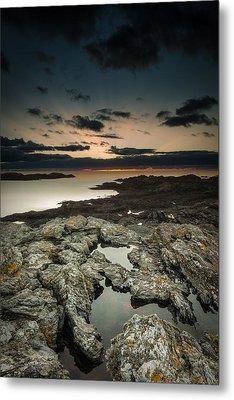 Welsh Seascape Metal Print by Andy Astbury