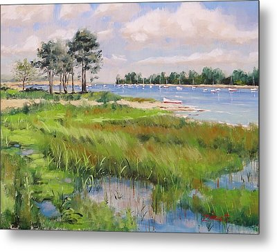 Wentworth By The Sea Metal Print by Laura Lee Zanghetti