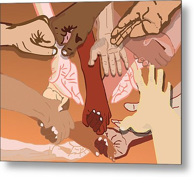 We're All In This Together Metal Print by Pharris Art