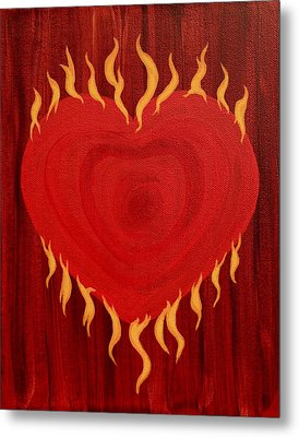 Were Not Our Hearts Burning Within Us Metal Print by Michele Myers