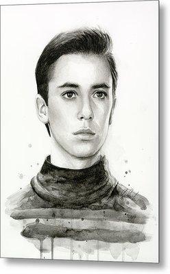 Wesley Crusher Star Trek Fan Art Metal Print by Olga Shvartsur