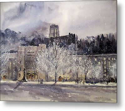 West Point Winter Metal Print by Sandra Strohschein