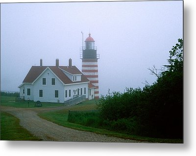West Quoddy Lighthouse Metal Print by Amanda Kiplinger